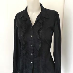Ralph Lauren | Black Lace Button Dowm